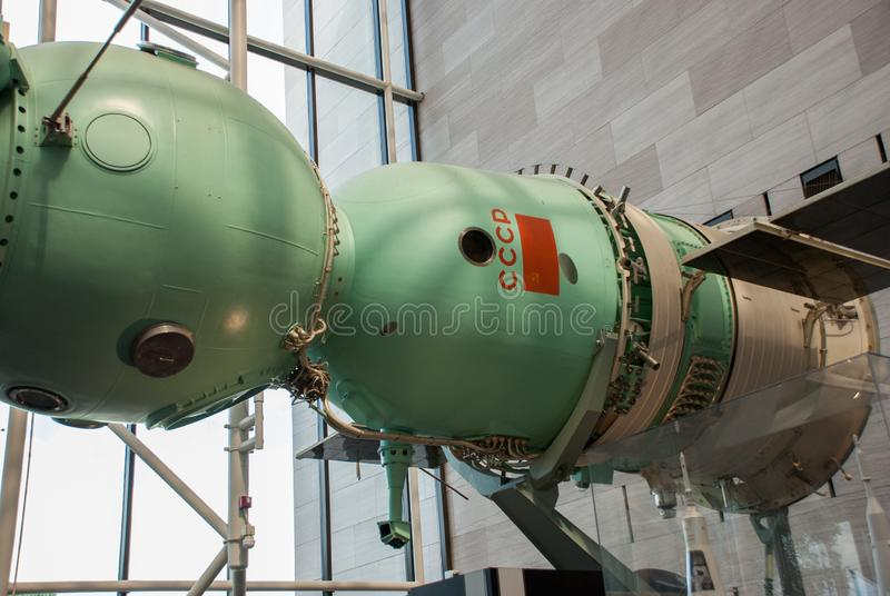 National Air and Space Museum (NASM) -  Apollo–Soyuz Test Project. WASHINGTON DC. USA - NOVEMBER 1, 2009: National Air and Space Museum (NASM) -  Apollo royalty free stock photography