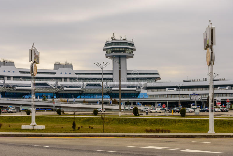 The national airport Minsk stock photos
