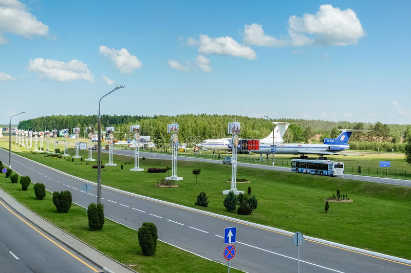 National airport Minsk royalty free stock photography