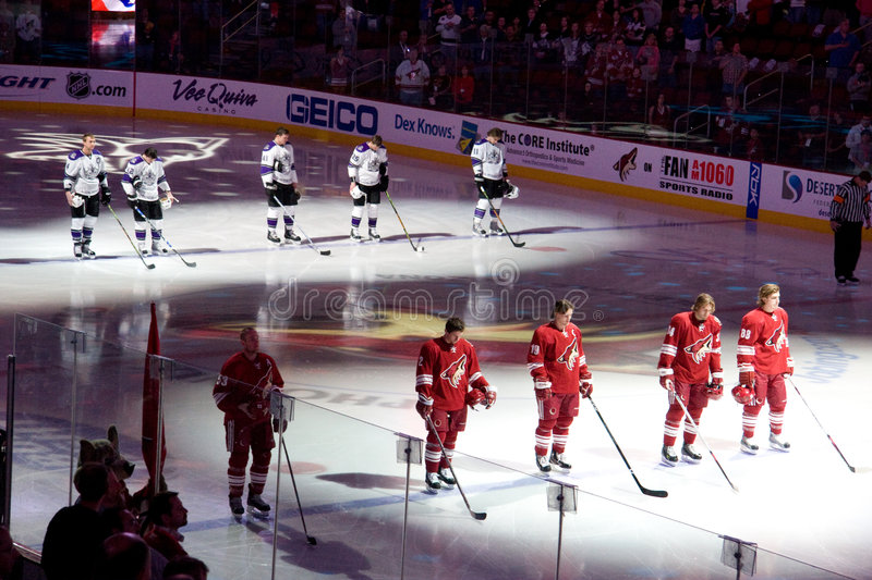 Download National Anthem At Hockey Game Editorial Stock Photo - Image: 7852383