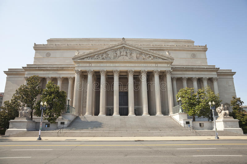 National Archives building in Washington DC front royalty free stock image