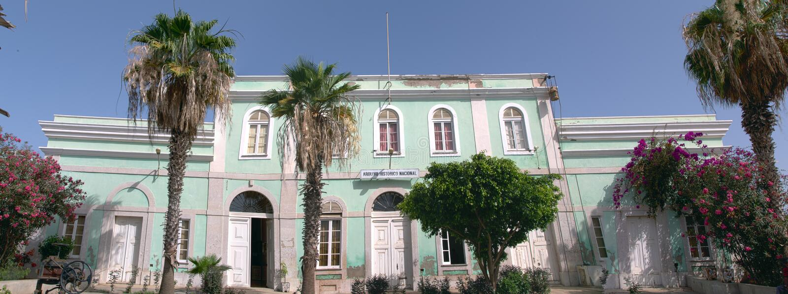 The National Archives of Cape Verde. Praia, Cape Verde. May 11, 2015: The National Archives of Cape Verde. Panoramic view royalty free stock images