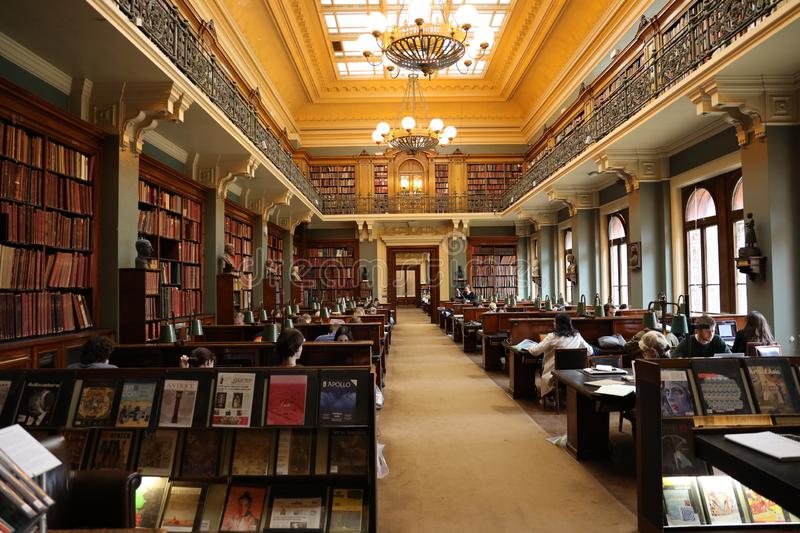 The National Art Library, London. The National Art Library NAL, located on level 3, V&A, South Kensington is a major public reference library, open to all royalty free stock image