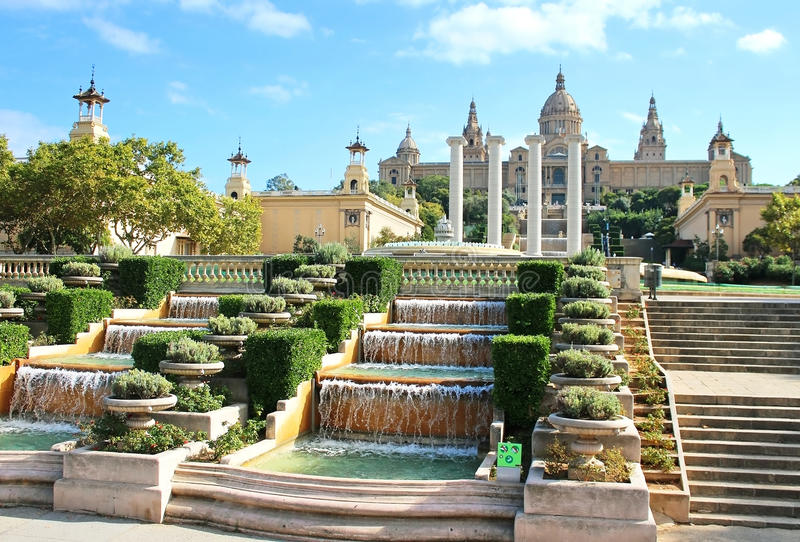 National Art Museum in Barcelona royalty free stock photography