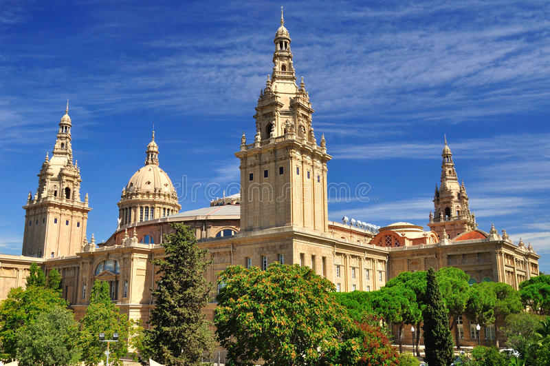 National Art Museum of Catalonia. Barcelona. royalty free stock photo
