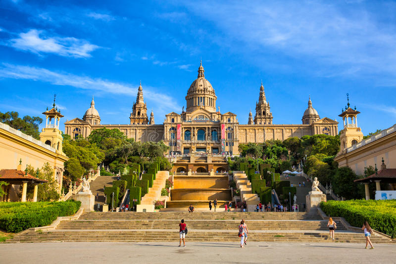 National Art Museum of Catalonia, Barcelona, Spain stock images
