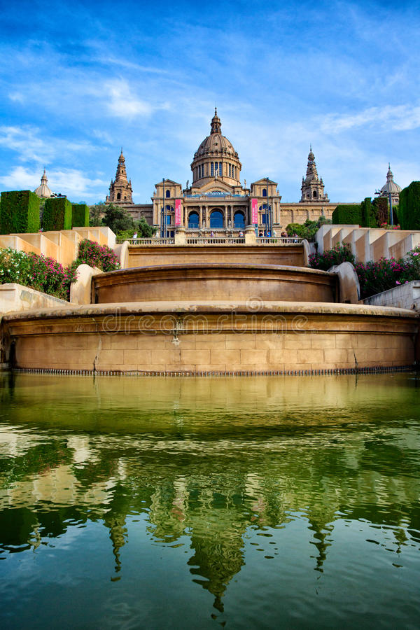 National Art Museum of Catalonia, Barcelona, Spain royalty free stock images