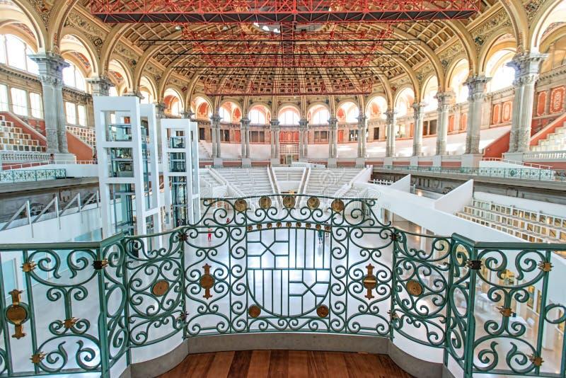 National Art Museum interior Barcelona Spain stock images