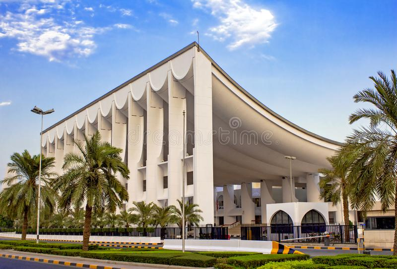 The National Assembly Of Kuwait Building Ready To Host New Elections. The National Assembly Of Kuwait Building Ready For New Elections royalty free stock photography