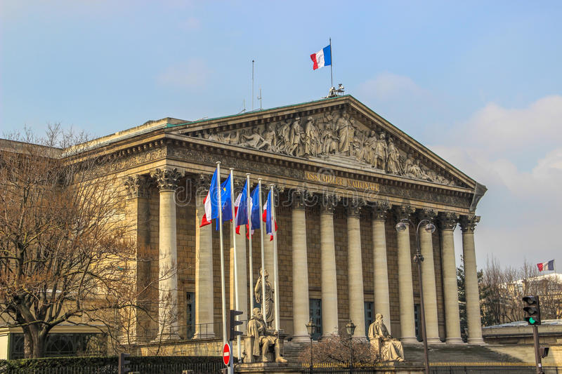 National Assembly, Paris, France royalty free stock photos