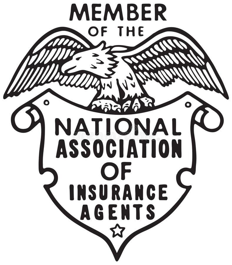 National Association Of Insurance. Retro Ad Art Banner stock illustration