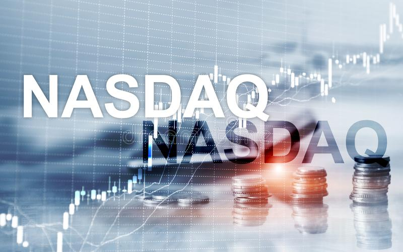 National Association of Securities Dealers Automated Quotation. NASDAQ.  royalty free illustration
