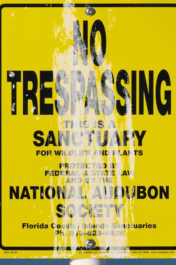 Download National Audubon Society No Trespassing Editorial Stock Image - Image: 18517434