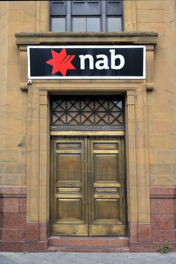 The National Australia Bank Branch. National Australia Bank Branch. NAB Is one of the four largest financial institutions in Australia in terms of market royalty free stock photo