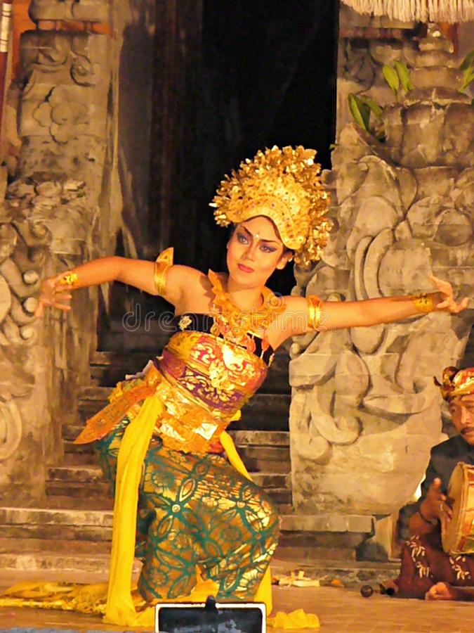 National balinese dance, Balinese dancers royalty free stock images