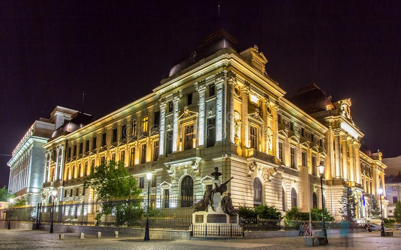 National Bank of Romania in Bucharest royalty free stock photo