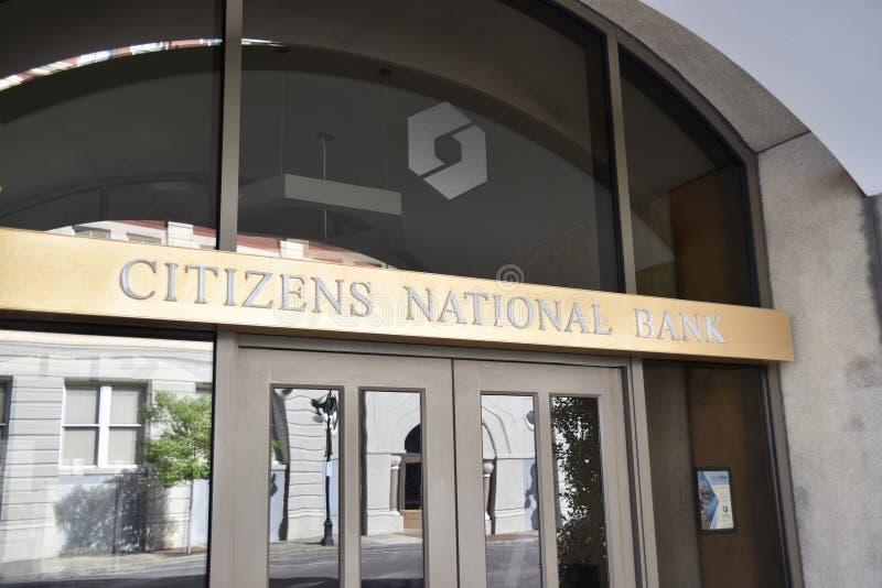 National Bank van de burger, Meridiaan, de Mississippi stock afbeelding