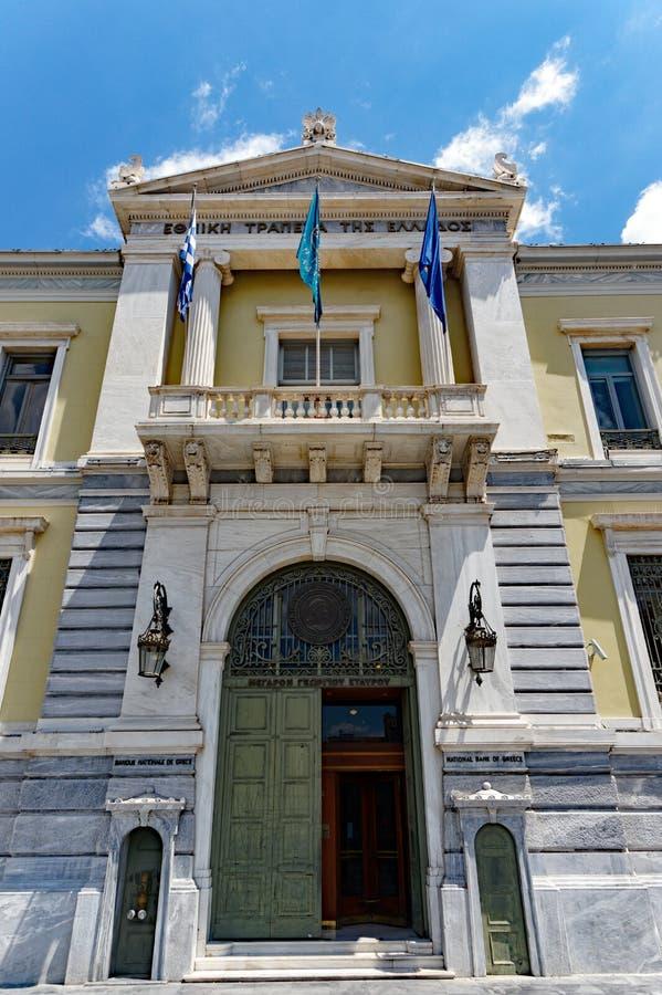 National Bank von Griechenland-Hauptsitzen, Athen, Griechenland lizenzfreie stockbilder