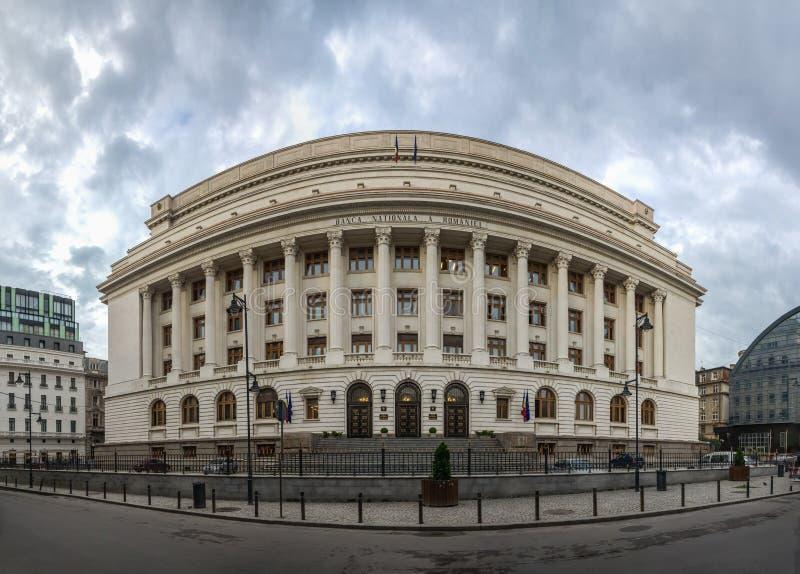 National Bank von Rumänien in Bukarest lizenzfreie stockfotografie