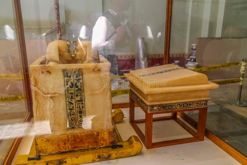 National Cairo Museum Expans dedicated to Ancient Egypt, Pharaohs, Mummies and Egyptian Pyramids. Museum Expans dedicated to Ancient Egypt, Pharaohs, Mummies and stock photo