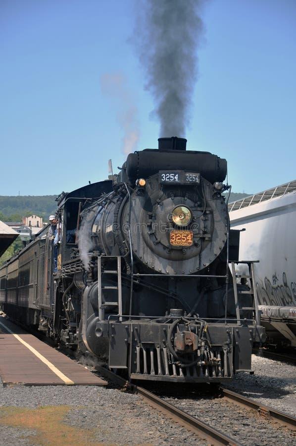 National canadien 3254 de locomotive à vapeur photographie stock