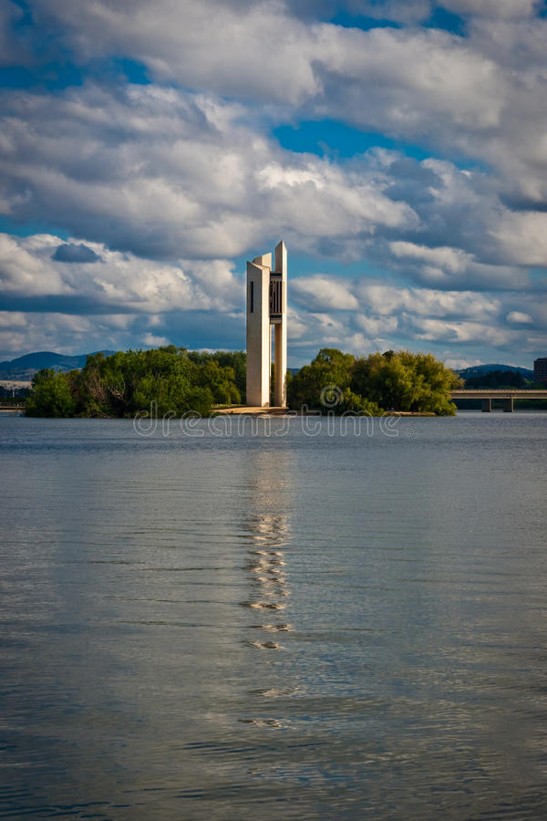 National Carillon. Canberras National Carillon. It is musical instrument and an icon for Canberra, Australia royalty free stock images