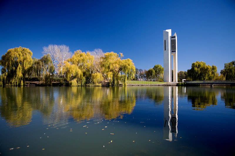 National Carillon. The National Carillon located on Lake Burley Griffin in Canberra, Australia stock photos