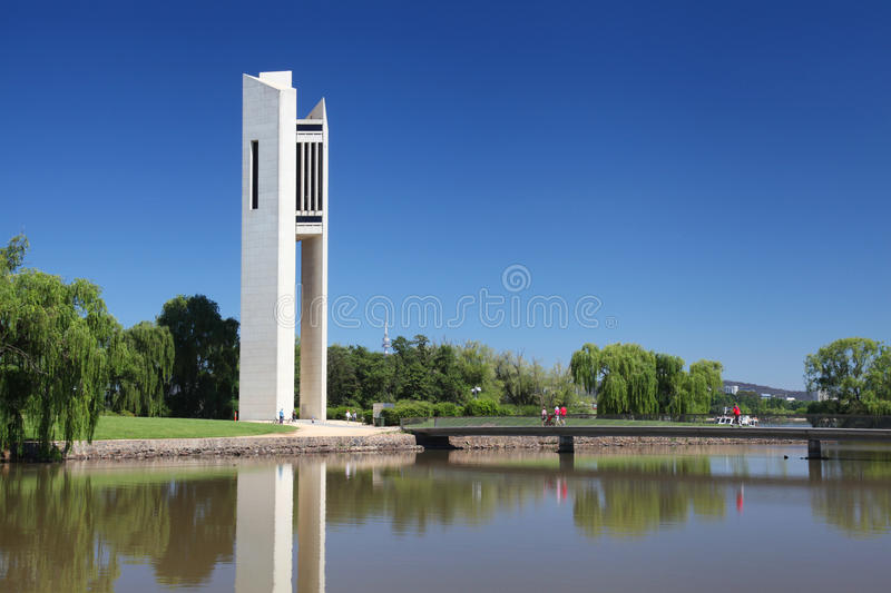 The National Carillon in Canberra, Australia. The Australian National Carillon in Canberra stock photo