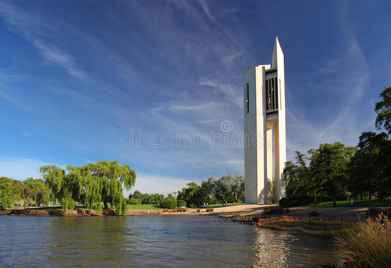 The National Carillon in Canberra, Australia. The Australian National Carillon in Canberra stock photography
