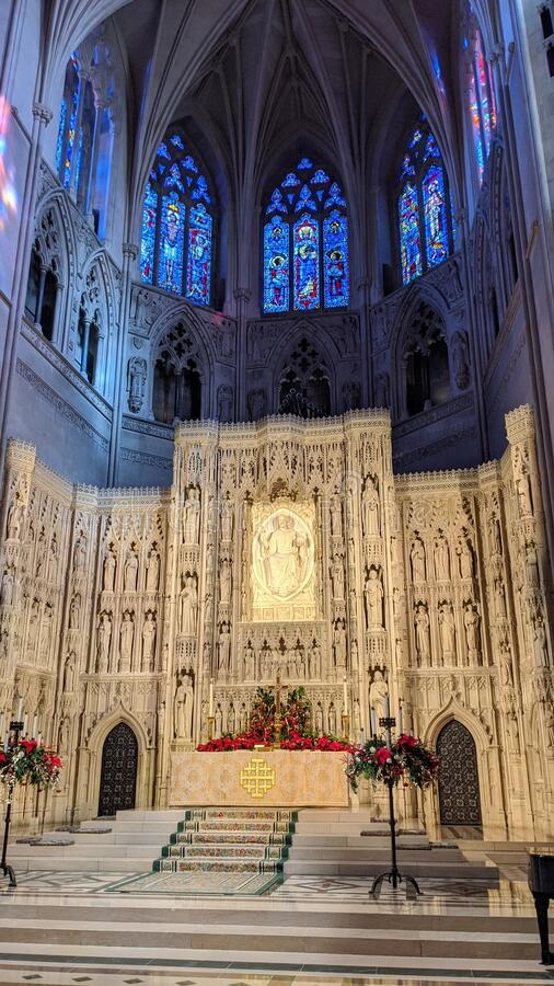National Cathedral in Washington, D.C. stock photo