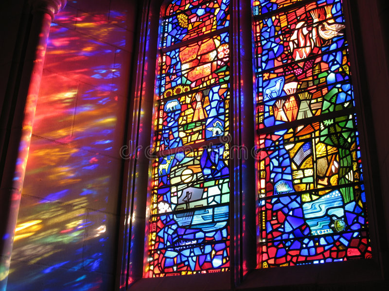 National Cathedral Windows royalty free stock photo