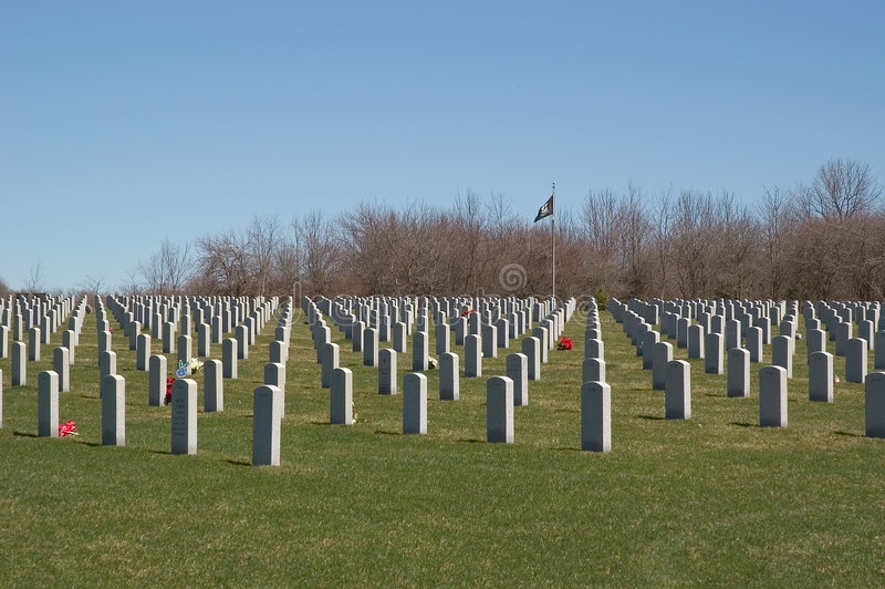 Download National Cemetery stock image. Image of field, cemetery - 101079