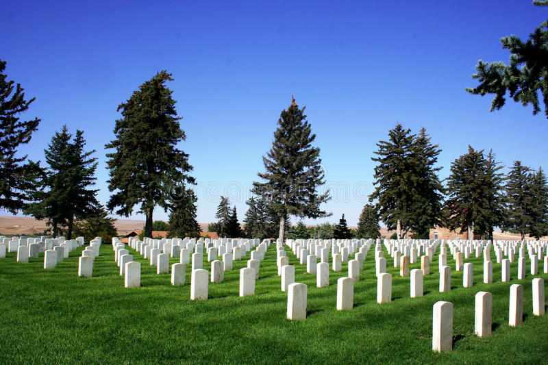 National Cemetery - Little Bighorn Battlefield. The national cemetery at Little Bighorn Battlefield stock photography