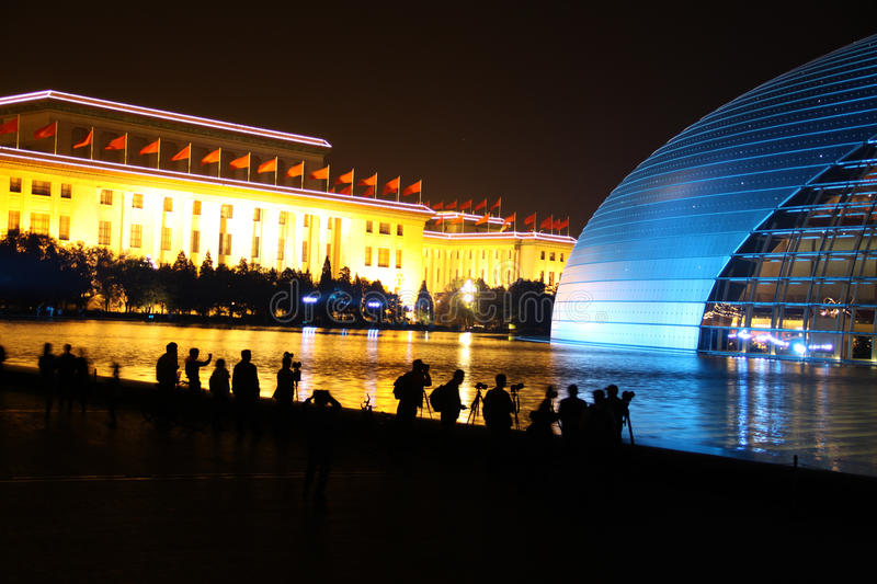 National centre for the performing arts. Beijing, China royalty free stock photography