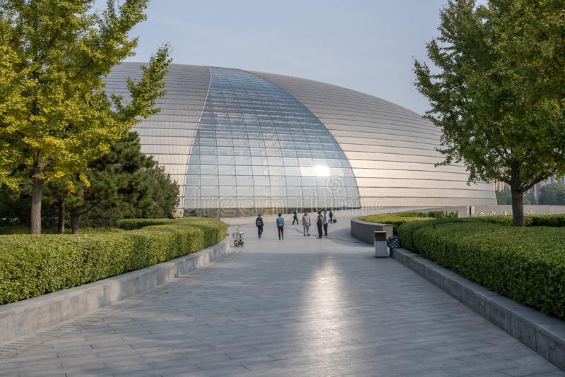 National Centre for Performing Arts in Beijing known as Egg building stock photos