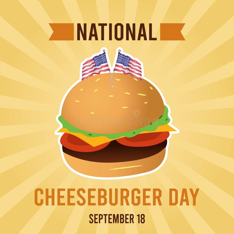 Free National Cheeseburger Day Vector Illustration Royalty Free Stock Photography - 196565697