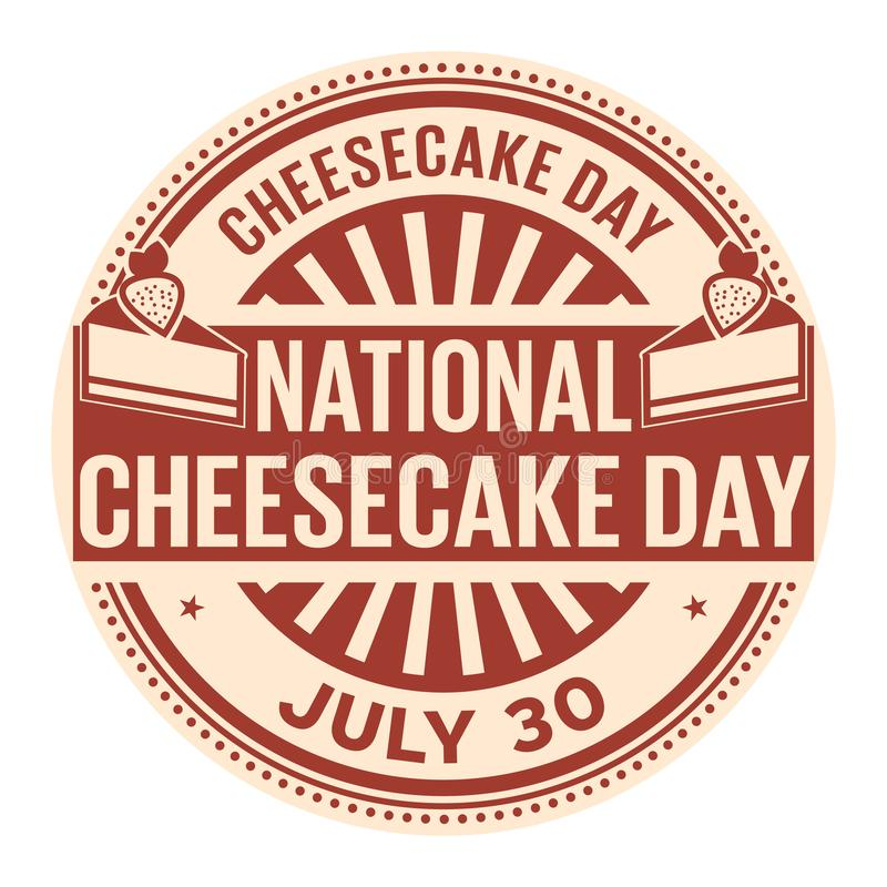 National Cheesecake Day. July 30, rubber stamp, vector Illustration stock illustration