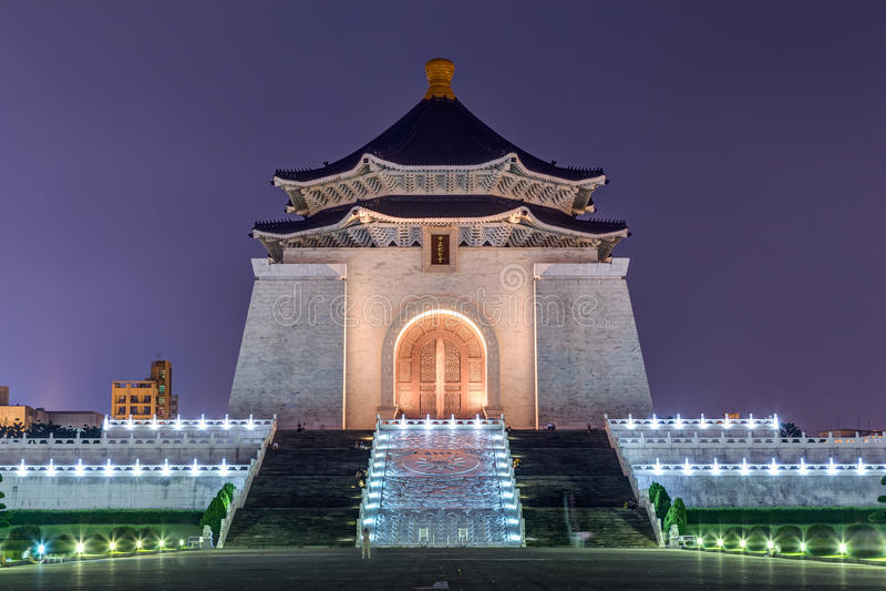 National Chiang Kai-shek Memorial Hall in Taipei, Taiwan royalty free stock photography