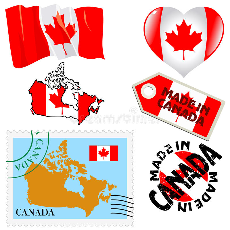 Download National colours of Canada stock vector. Image of canada - 33478431