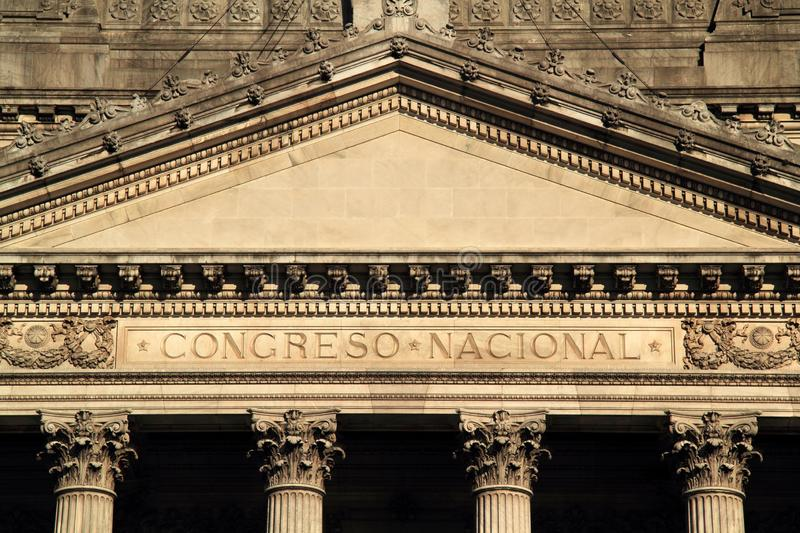 National Congress of the Country of Argentina stock images