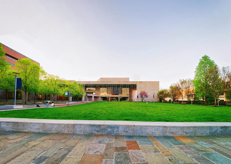 National Constitution Center at Philadelphia. Philadelphia, USA - May 4, 2015: National Constitution Center at Philadelphia, Pennsylvania, the USA. It is placed royalty free stock image
