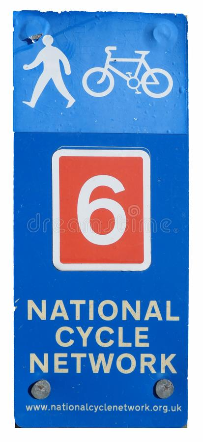 National Cycle Route sign post stock image