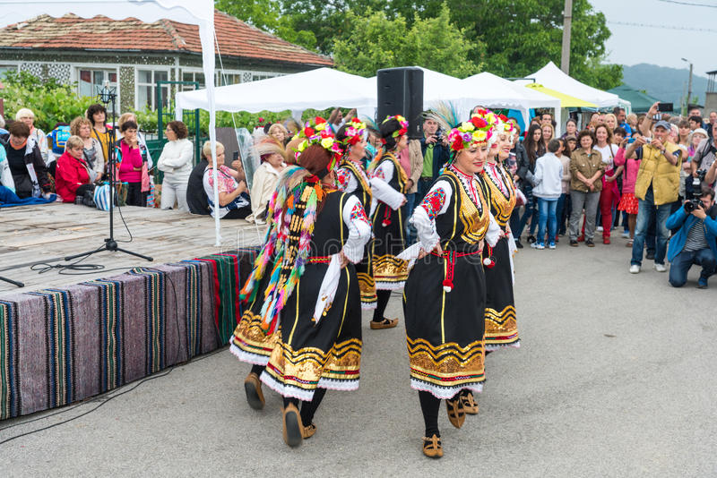 National Dance on Nestenar games in the village of Bulgarians. Bulgaria stock images