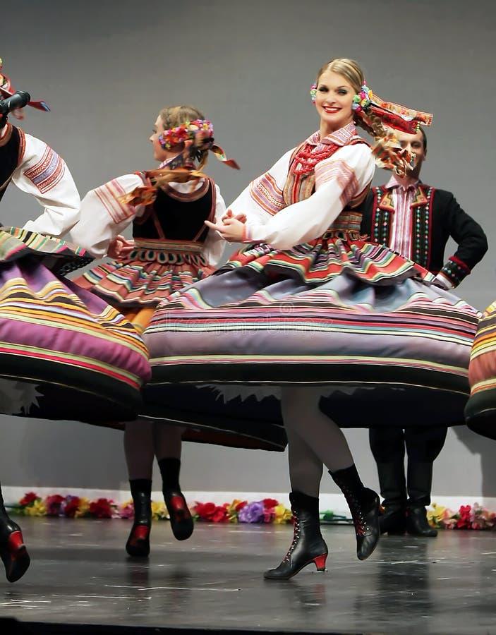 National dance troupe of Poland - Mazowsze stock images