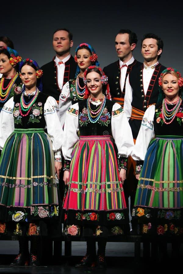 National dance troupe of Poland - Mazowsze royalty free stock image