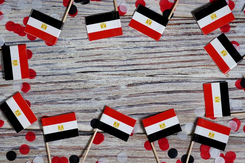 National day of Egypt on 23 July. revolution day. the concept of veterans Day or memorial Day . Egypt glory to the heroes of the. Egypt hanging flag for honour royalty free stock photography