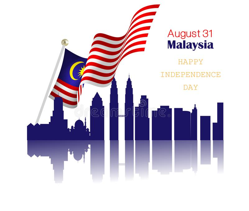National Day of Malaysia vector illustration