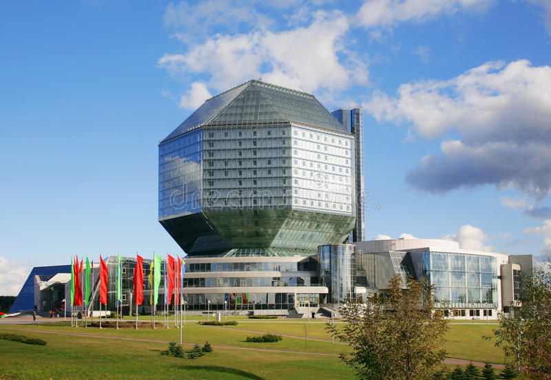 national de bibliothèque du belarus photos stock