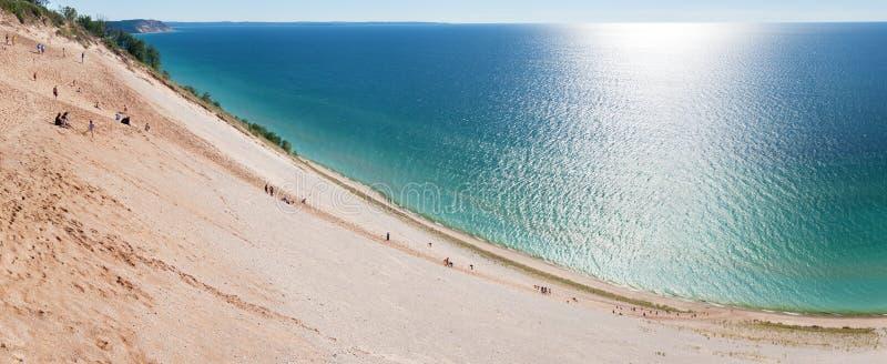 National de sommeil de dunes d'ours Lakeshore photos libres de droits