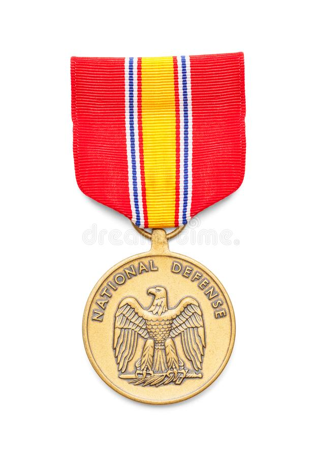 National Defense Medal. United States Air Force National Defense Medal Cut Out on White royalty free stock photography